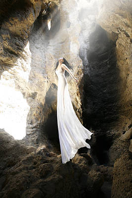 Floating Girl Photograph - Fly Into The Light by Bijan Studio