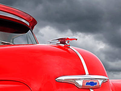 Vintage Hood Ornament Photograph - Fly Like A Bird - Chevrolet Hood Ornament 1953 - 1954 by Gill Billington