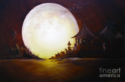 Painting - Fly Me To The Moon by David Kacey