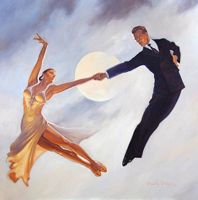 Swing Painting - Fly Me To The Moon by David Riley