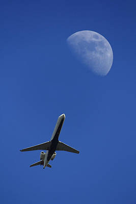 Passenger Plane Photograph - Fly Me To The Moon by Mike McGlothlen