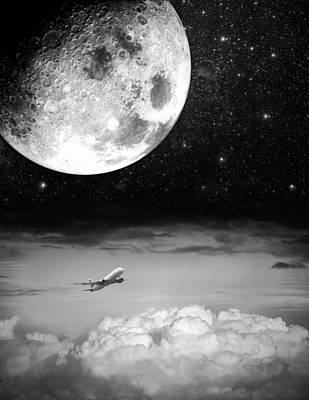 Fly Me To The Moon Art Print by Semmick Photo