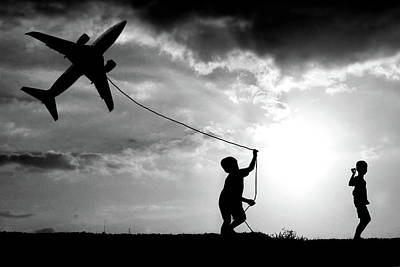 Kite Photograph - Fly My Plane by