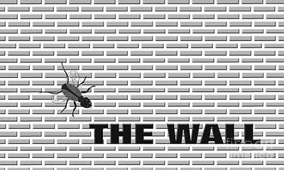 Fly On The Wall Art Print by Methune Hively