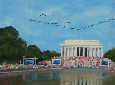 Lincoln Memorial Painting - Fly Over by Trish Bilich