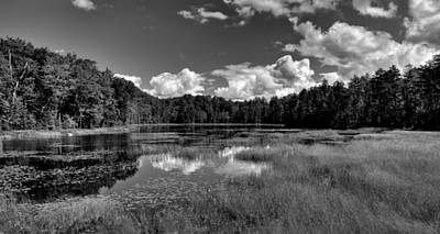 Lily Photograph - Fly Pond Panorama - Old Forge Ny by David Patterson
