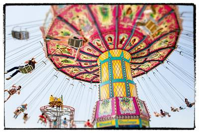 Photograph - Fly Swing Ride Tilt Shift by For Ninety One Days
