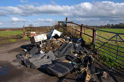 Mess Photograph - Fly-tipping by Mark Williamson