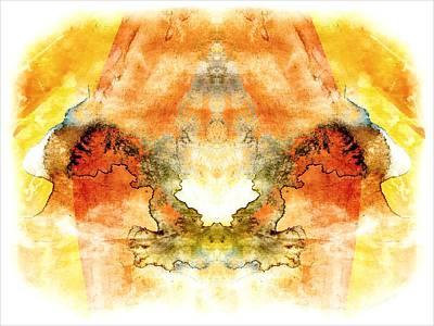 Rorschach Digital Art - Fly To The Sun by Melissa Bittinger