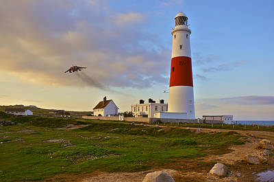 Photograph - Flyby Portland Bill Lighthouse by Nop Briex