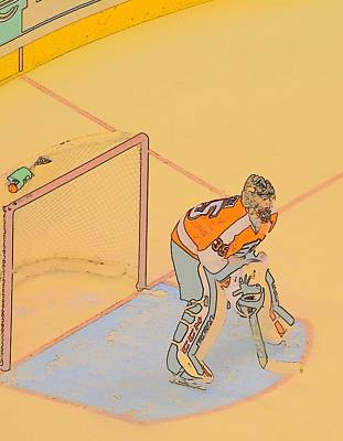 Philadelphia Flyers Digital Art - Flyers Goalie by Justin DiGiacomo