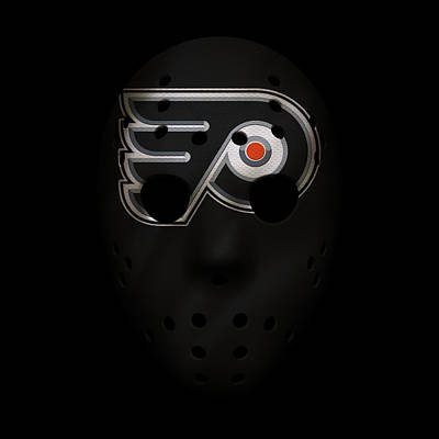 Philadelphia Flyers Photograph - Flyers Jersey Mask by Joe Hamilton