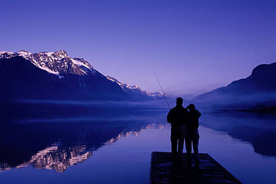Flyfishing At Chilkoot Lake Near Haines Art Print by Michael DeYoung