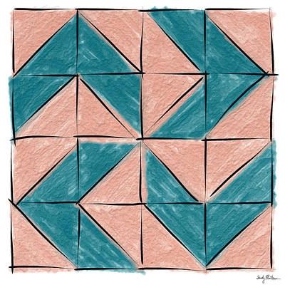 Block Quilts Painting - Flyfoot Quilt Block 1 by Sandy MacGowan