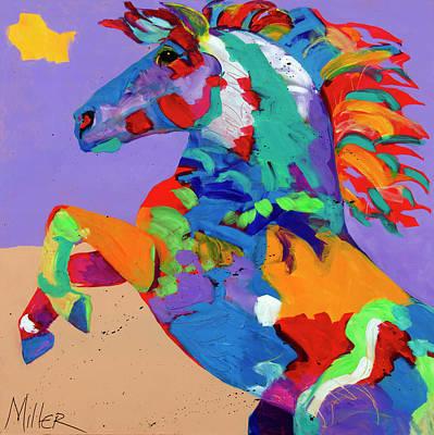Flyin Hooves Art Print by Tracy Miller