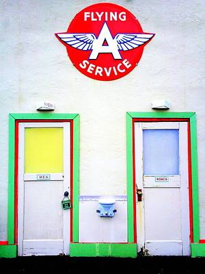 Photograph - Flying A Restrooms by Randall Weidner