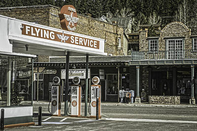 Photograph - Flying A Service Station by Sherri Meyer