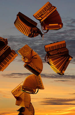Flying Accordian At Sunset Original by Gary Horsfall