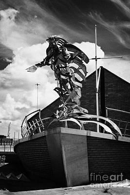 Flying Angel Photograph - flying angel seafarers centre misson to sailors sailortown Belfast Northern Ireland UK by Joe Fox