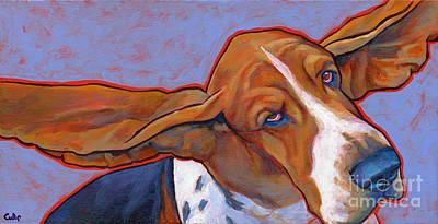Flying Basset Hound Print by Lynn Culp