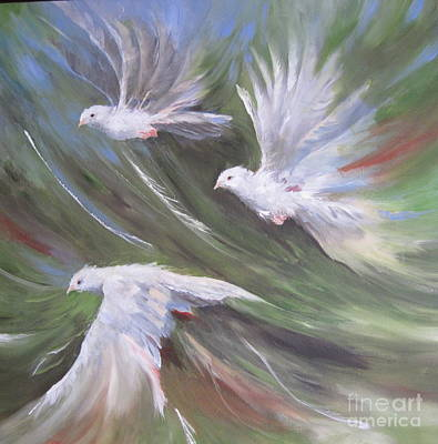 Painting - Flying Birds by Paula Marsh