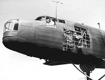Airways Photograph - Flying Boat Refueling by Underwood Archives