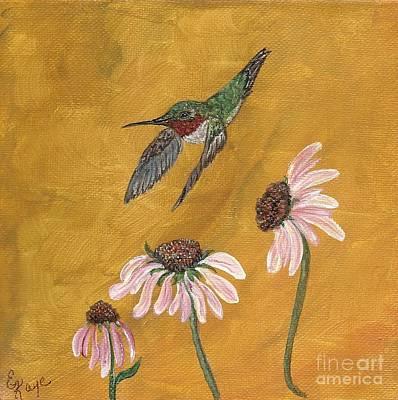 Art Print featuring the painting Flying By by Ella Kaye Dickey