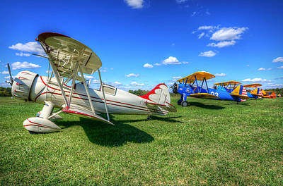 Art Print featuring the photograph Flying Circus by Michael Donahue