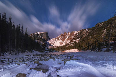 Photograph - Flying Clouds Over Dream Lake by Darren  White