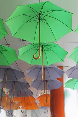 Flying Colorful Umbrellas  Art Print by Diana Dimitrova