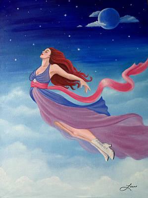 Kate Winslet Painting - Flying Dream by Lauri Loewenberg