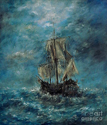 Painting - Flying Dutchman by Arturas Slapsys