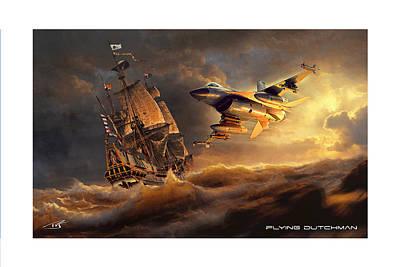 Flying Dutchman Print by Peter Van Stigt