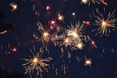 Fireworks Photograph - Flying Fireworks 2 by Kim Stafford