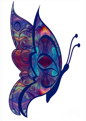 Digital Art - Flying Free Abstract Butterfly Art By Omaste Witkowski by Omaste Witkowski