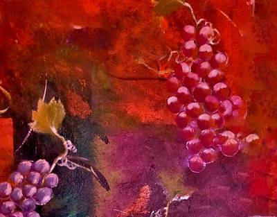 Painting - Flying Grapes by Lisa Kaiser