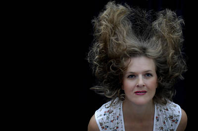 Photograph - Flying Hair by Donna Blackhall