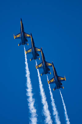 Blue Angels Photograph - Flying High by Adam Romanowicz