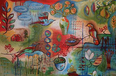 Pear Tree Mixed Media - Flying Home by Julia Daniel