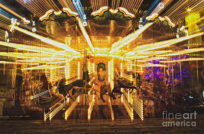 Photograph - Flying Horses Carousel  by Iryna Liveoak
