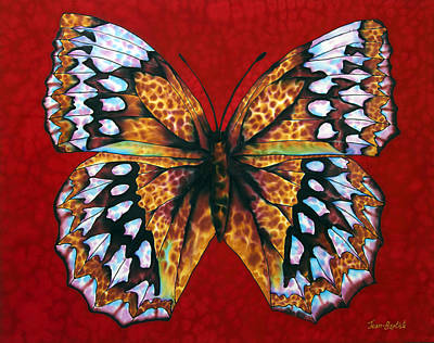 Butterfly In Red Art Print
