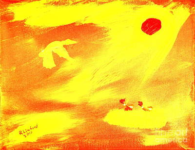 Painting - Flying Into The Son 3 by Richard W Linford