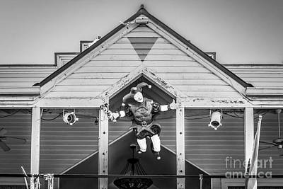Jester Photograph - Flying Jester 2  Duval Street Key West - Black And White by Ian Monk