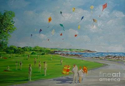 Painting - Flying Kites Newport Ri by Perrys Fine Art