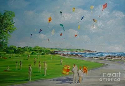 Flying Kites Newport Ri Art Print
