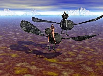 Flying Naked  Art Print