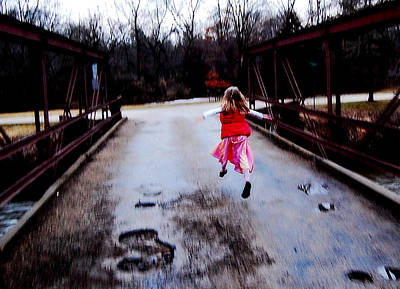 Photograph - Flying On The Bridge by Jon Van Gilder