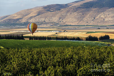Aerial Photograph - Flying Over Jezreel Valley by Arik Baltinester