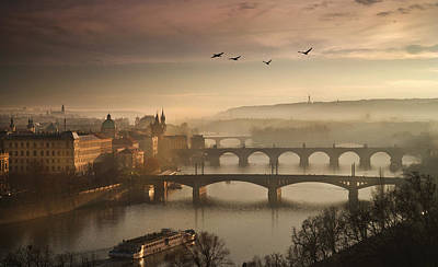 Flying Over Prague Original by Charlie Photographer