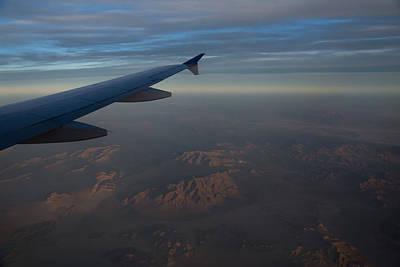 Flying Over The Mojave Desert At Dawn Art Print